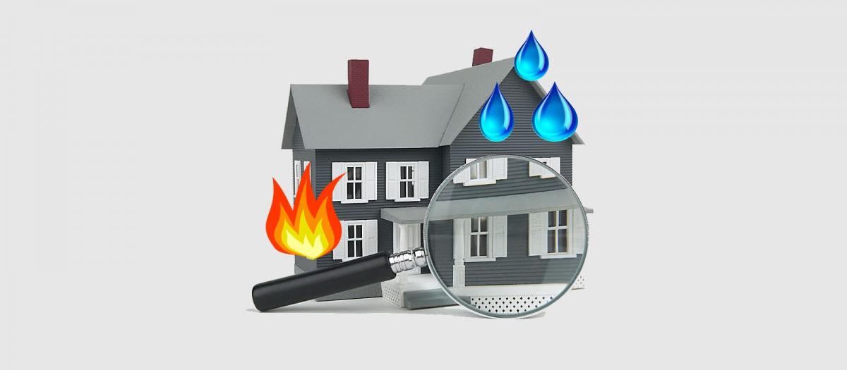 Экспертиза в результате залива или пожара